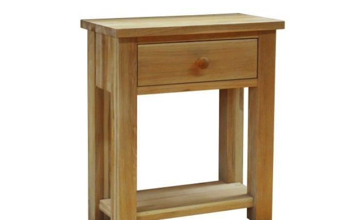 Drake Solid Oak Hallway Furniture Small Console Hall Table