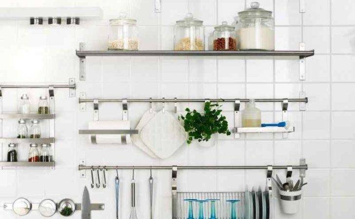 Dramatic Kitchen Designs Stainless Steel Shelves