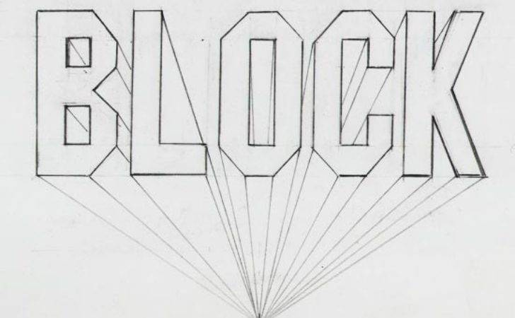 Draw Block Letters