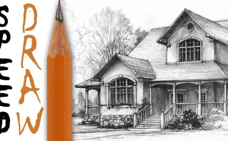 Draw House Architecture Speed Drawing Youtube