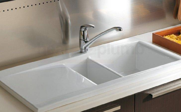 Dream Bowl White Ceramic Kitchen Sink