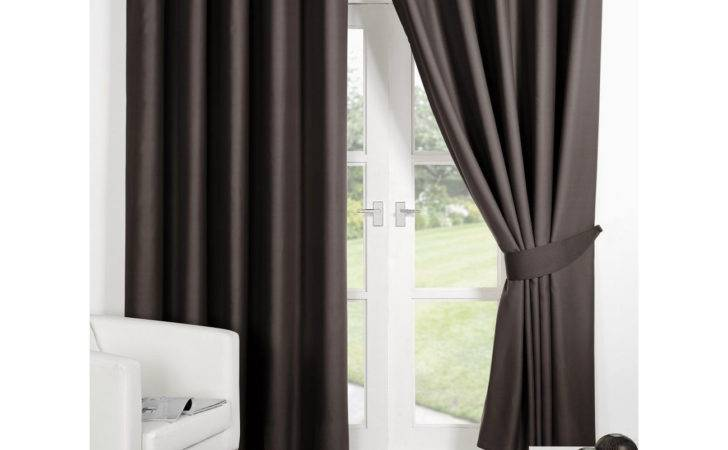 Dreamscene Thermal Eyelet Blackout Curtains Tiebacks