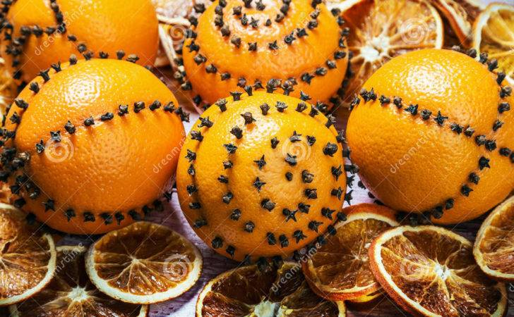 Dried Oranges Cloves Christmas