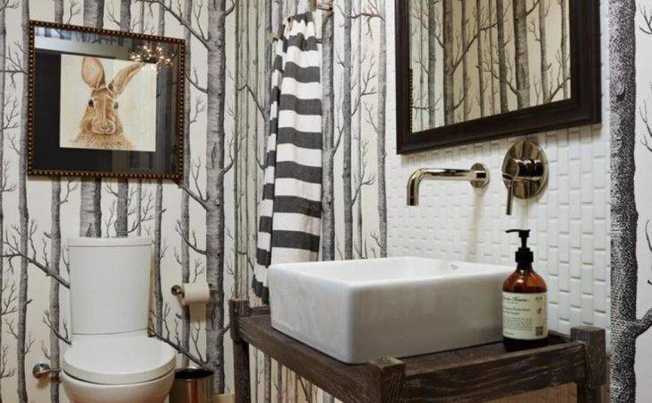 Dry Wood Forest Bathroom Ideas Small Modern