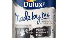 Dulux Black Magnetic Matt Chalkboard Paint Rooms