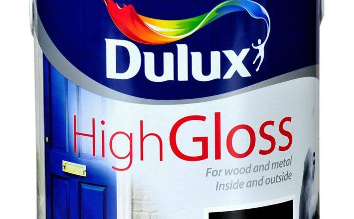 Dulux High Gloss Black Paint Litre Topline