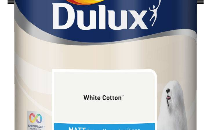 Dulux Matt Emulsion Paint White Cotton Wilko
