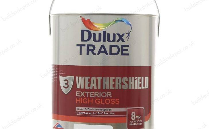 Dulux Trade Weathershield Exterior High Gloss Paint