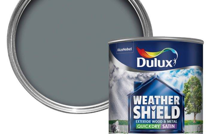 Dulux Weathershield Exterior Gallant Grey Satin Wood