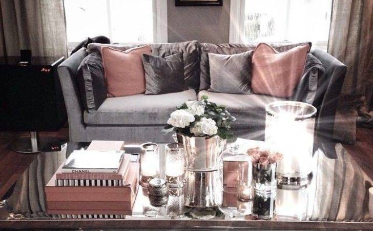 Dusty Pink Living Room Dusky Grey Statement