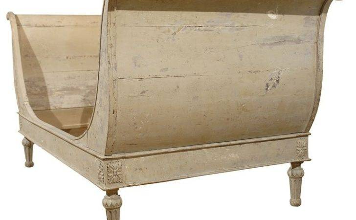 Early Century French Painted Sleigh Bed Stdibs