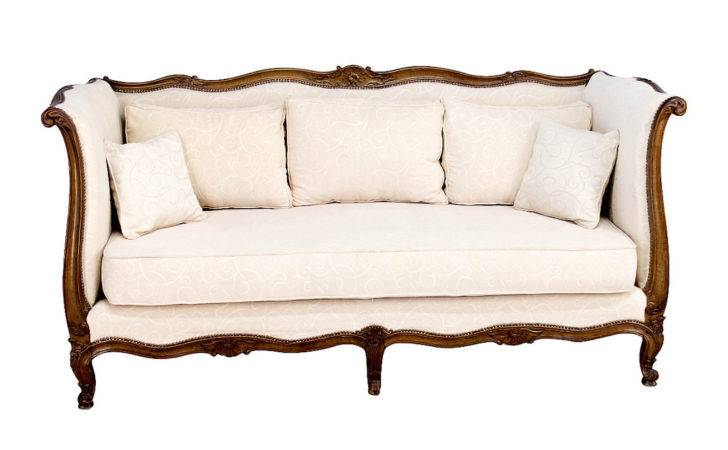 Early French Antique Louis Style Canap Sofa