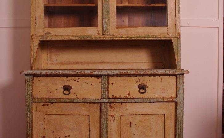 Early Painted Pine Country Kitchen Dresser Hobart