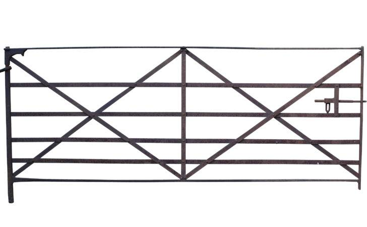 Early Wrought Iron Field Gate Architectural