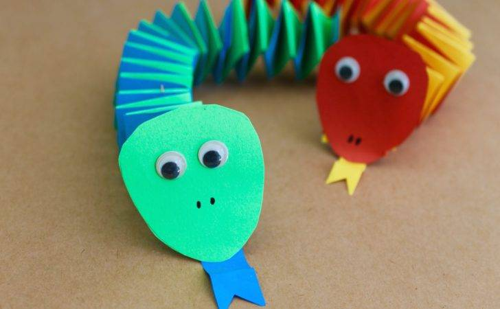 Easy Craft Make Paper Accordion Snakes Youtube