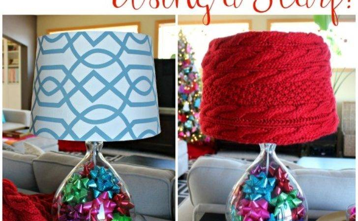 Easy Sew Diy Lampshade Cover Using Scarf All