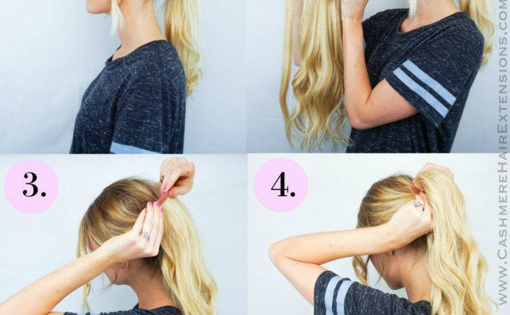 Easy Wrap Ponytail Extensions Cashmere Hair Clip