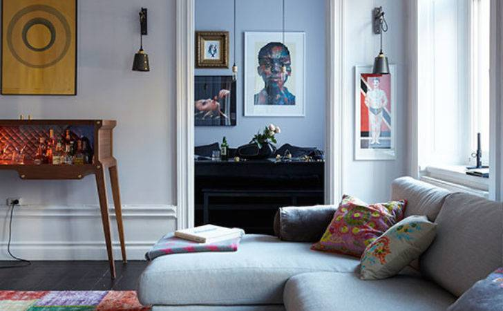 Eclectic Living Room Grey Sofa Decorating Ideal Home