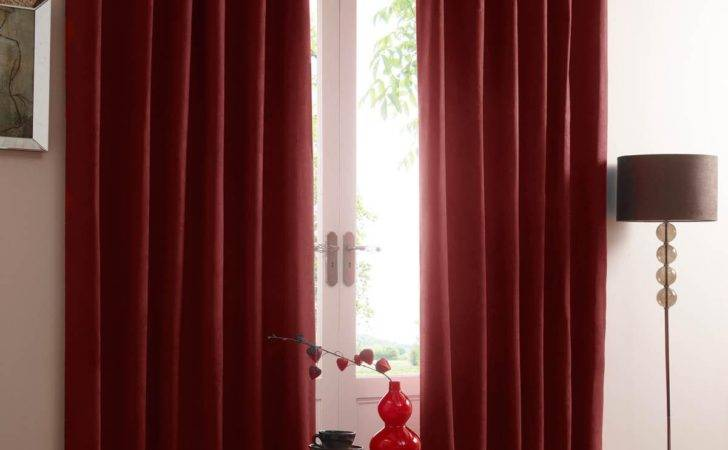 Eclipse Red Blackout Eyelet Curtains Delivery