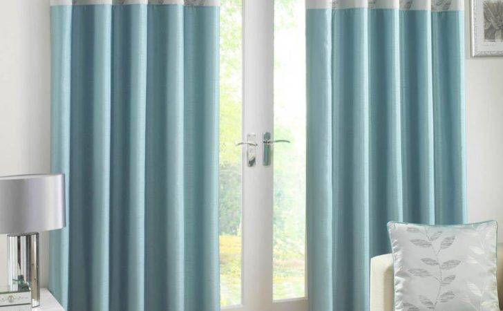 Eden Lined Ready Made Eyelet Curtains Lovely Blue Bedroom