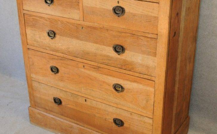 Edwardian Oak Chest Drawers Chests