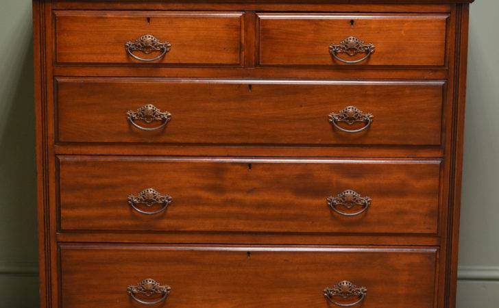 Edwardian Satinwood Antique Chest Drawers Antiques World