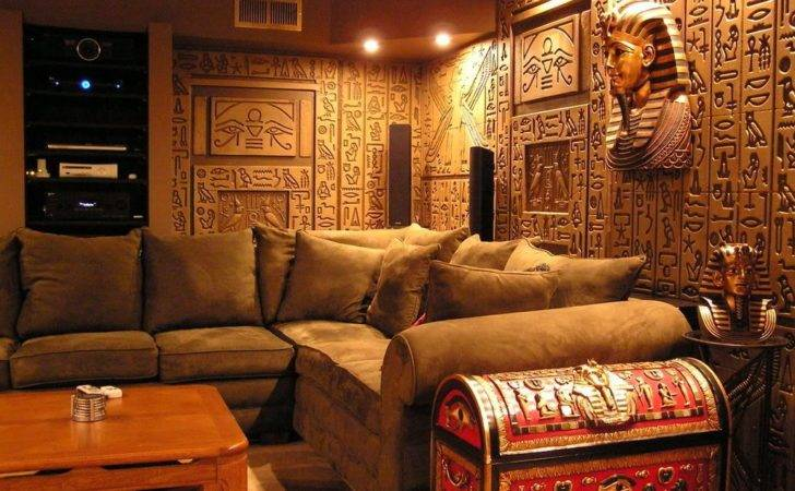 Egyptian Tomb Home Theater Photos Media Room