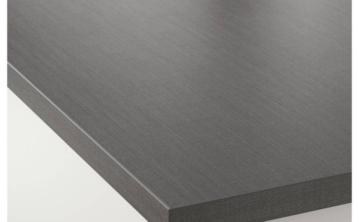 Ekbacken Custom Made Worktop Dark Grey Linen Effect