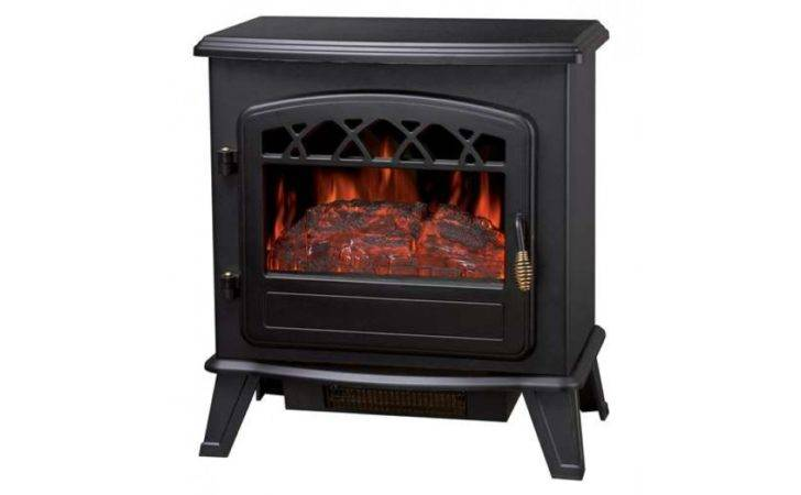 Electric Stove Log Burning Flame Effect Black
