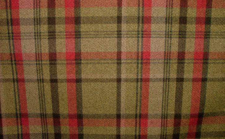 Elgin Dove Hunter Effect Washable Thick Tartan Curtain Fabric