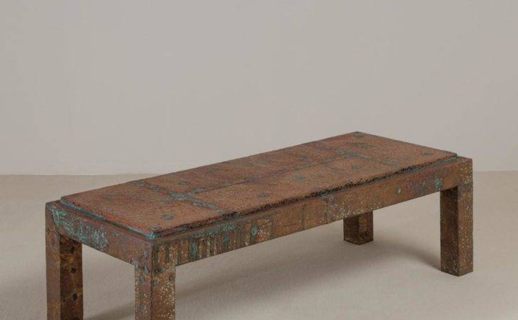 Embossed Aluminium Wrapped Coffee Table Arenson