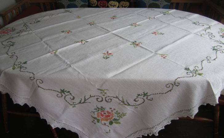 Embroidered Tablecloth Bargains Second Hand Store