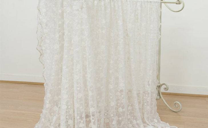 Emily Mcguinness Paloma Floral Embroidered Lace Curtain