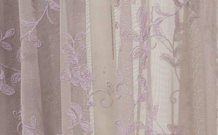Emily Mcguinness Paloma Posie Embroidered Lace Curtain