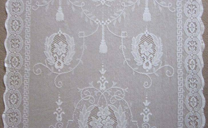 Empire Madelyn Regency Style Whitecotton Lace Curtain
