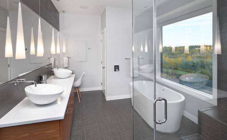 Ensuite Contemporary Bathroom Edmonton Habitat