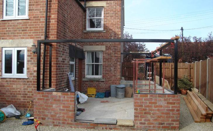 Erection Conservatory Extension House Consisting