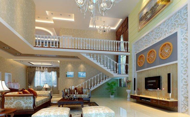 European Neoclassical Living Room House Decoration
