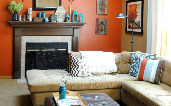 Excellent Accent Wall Living Room Letter Beige Sofa