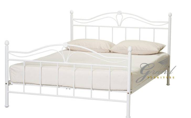 Exclusive Apollo French Style White Double Metal Bed Frame