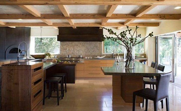 Exposed Beams Low Ceiling Kitchen Decoist
