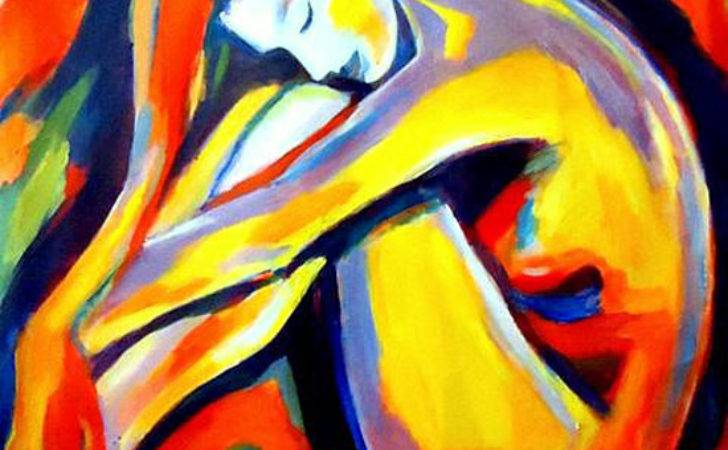 Expressionist Bold Colored Paintings Helenka Wierzbicki