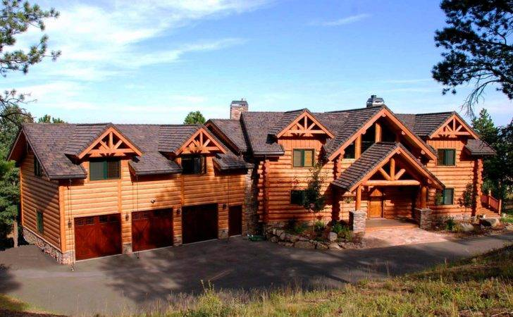 Exterior Custom Handcrafted Milled Log Homes