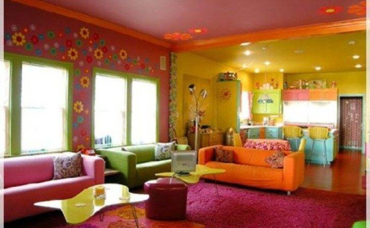 Eye Catching Colourful Living Room Designs