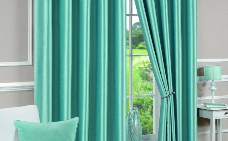 Eyelet Fully Lined Ready Made Curtains Ring Top Pair White