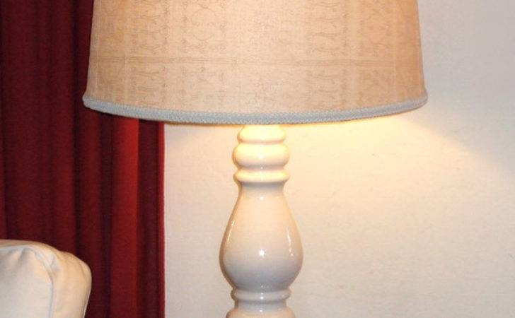 Fabric Covered Lampshade Ball Finial Crafty Nest