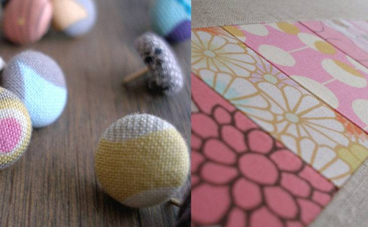 Fabric Covered Tacks Patchwork Pin Board Makesomething