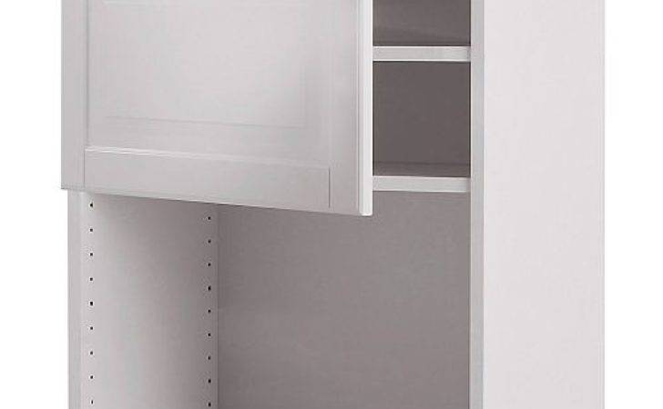 Faktum Wall Cabinet Microwave Oven Liding Off White