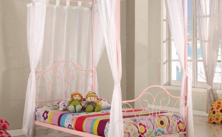 Fantasia Single Four Poster Bed Frame Pink Buy