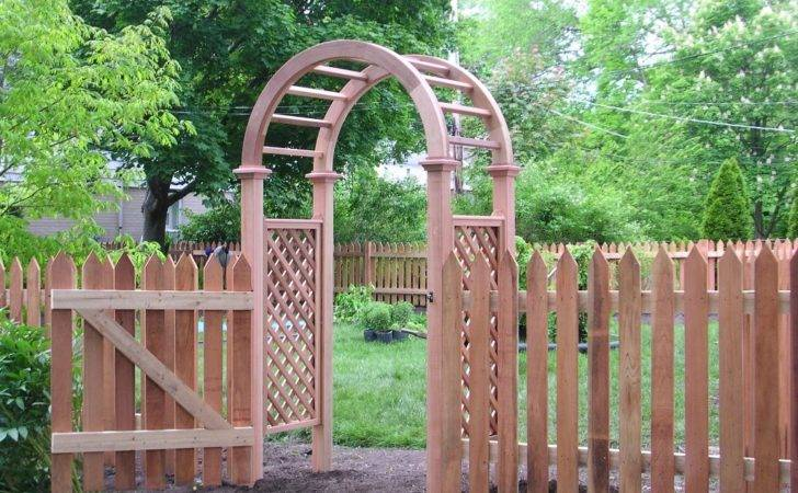 Fascinating Arch Which Made Wood Placed